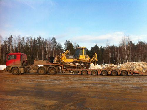 Транспортировка бульдозера по РФ
